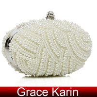 Wholesale GK Women Girls Charming Faux Pearl Beaded Evening Christmas Party Clutch Bag GZ324