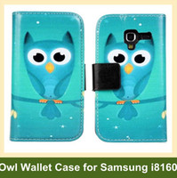 For Samsung ace buy - New PU Leather Owl Pattern Case for Samsung Galaxy Ace Wallet Flip Cover Case for Galaxy Ace i8160