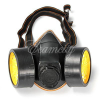 Face Mask PVC Activated Carbon Free Shipping Safety Protection Anti-Dust Spray Chemical Gas Dual Double Cartridge Respirator Paint Filter Face Mask Wholesale