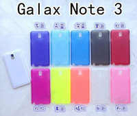 pp plastic case - 0 MM thin PP Plastic Soft Case Matte Cover Color Clear Frosted for Samsung Galaxy Note III Note Note3 NoteIII N9000