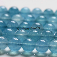 DIY aquamarine loose stones - 16mm Aquamarine Loose Beads Strands strand Jewelry DIY Beads