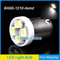 White   BA9S 4 SMD 1210 3528 LED White Car Wedge Side Light Interior lights Bulb, 12V Indicators Light