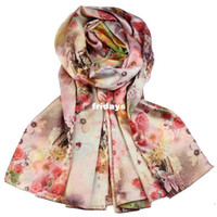 Wholesale 2013 winter new double sided patterned silk shawl long paragraph forging prime wrinkle scarves with Chinese characteristics