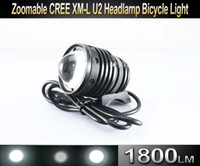 Wholesale 10SET NEW In Zoomable CREE XM L U2 LED Bicycle bike HeadLight Lumen Headlamp Lamp Light ZOOM OUT IN UniqueFire