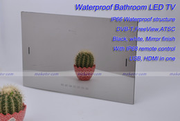 DHL free shipping 22'' Waterpoof Shower LED Mirror TV, Smart Android OS , USB HDMI Bluetooth DVB-T RJ-45, IP66 Waterproof