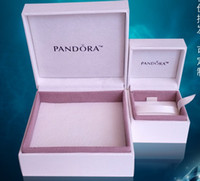 "Plastic Display  The Original Pandora Ear Ring and Diamond Ring Gift Box , Pandora Necklace Bracelet Jewelry White Gift Box With 3 1 2"" x 3 1 2""x 1 1 2"""