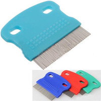 Wholesale Stainless Steel Pet Dog Cat Toothed Flea Removal Cleaning Brush Comb Grooming
