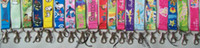 Lanyard   200pcs Cartoon Lanyards,Lots of Designs Colours.Neck Id Holders Popular Gift