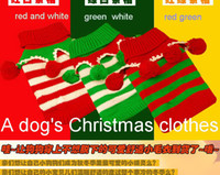Wholesale Pet Christmas balls sweater dog festival costumes winter New Year s dog clothes