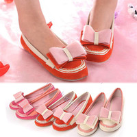 Wholesale New Fashion women flat Beautiful Hard Bottom Bowknot Shoes Flats Colors sizes Henrynl