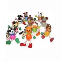 Wholesale Wooden toys wooden educational toys foreign human small spring animal giraffe giraffe Rock Special