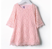 Children's Dresses white lace dresses pink 6 different szies...