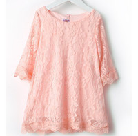 Children's Dresses Pink lace Dresses cotton dress Children's...