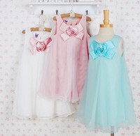 Children's Dresses Yarn dress Roses sleeveless dress summer ...