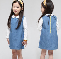 Children's Dresses Denim Dress sleeveless dress autumn style...