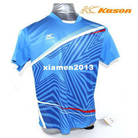 Wholesale kason badminton T shirt men short sleeved badminton series tournament badminton clothing kason FAYG019