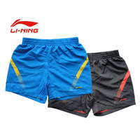 Wholesale men badminton Shorts moisture wicking Li ning AKSH015