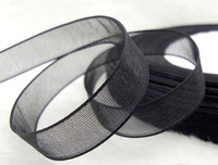 Wholesale 50Yards Black Wedding Party Shower Top Organza Ribbon Decoration Wedding Favors Supplies Gift Boxes Favor Box Decor