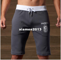 Wholesale Summer tauwell cotton slim tennis ball male badminton sports fitness shorts