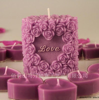Wholesale 1Set Free shippin Candle Gift Wedding Supplies amp Events Party Supplies birthday Love amp Rose Flowers Candles