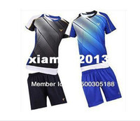 Wholesale Original edition New South Korea Olympic race suit VICTOR Mens Badminton Tennis Polo Shirts Shorts Black Blue