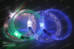 Discothèque clignotant conduit en Ligne-LLFA3375 de nouvelles Décorations de Noël! Flash LED Muti-Changement de couleur du Club Lueur Bracelet de NOËL, soirée de folie Club Di