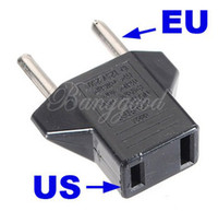 Wholesale A77 Convenient Universal US To EU Plug USA To Euro Universal Travel Wall AC Power Charger Outlet Adapter Converter