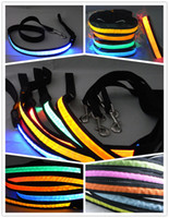best leashes - Best price cm LED Flashing Light Dog Pet Leashes Tether dog collars leash