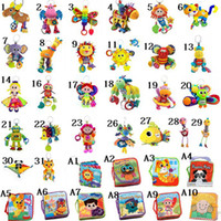 Wholesale 5pcs you can choose style Lamaze Crib toys rattle teether infant early development plush toy