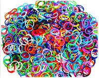 3 & 4 Years Multicolor Plastic Rainbow Loom Refill blending (1800 rubber band +45 S-Clip + 45 C-Clip) = 1 set