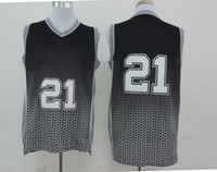 Wholesale Tim Duncan Spurs Resonate Fashion Swingman Jersey Black Silver Cheap Basketball Jerseys Best Selling Outdoor Athletic Practice Jerseys