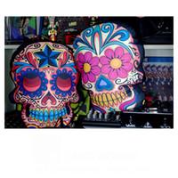 Wholesale Death head car cushion Skull pillow Sugar skull pillow Skull sofa cushion