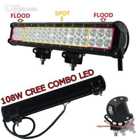 17 '' 108W Cree LED Light Bar Spot / Flood Combo Light LED Work Light bar Off Ro