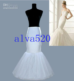 Wholesale 2014 Cheap Unique White Mermaid US Size Wedding Prom Dresses Bridal Petticoat