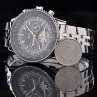 Wholesale 2013 Hot Sale Automatic Men Watch Men s Mechanical Watches Stainless Steel Back Luxury watch Jagagar Drop Shipping