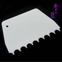 Wholesale Baking tools semi cirle Medium glue scraper cake scraper butter scraper decorating