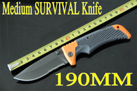 Wholesale Medium SURVIVAL SERIES knife CR17MOV blade Folding EDC pocket hunting knife knives new in original box Christmas gift