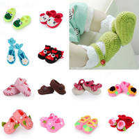 Wholesale New Arrival Crochet Baby Sandals Infants Knitted Ties Shoes Handmade Flower Toddler Shoes DJT