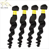 Brazilian Hair Loose Wave Under $50 Virgin Brazilian Hair Weave Loose Wave Hair Extensions Mix Size 4pcs bundles Loose Curl Beauty For Your Nice Hair Salon