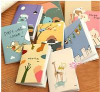 Cuadernos forrados diarios España-animales de dibujos animados lindo 120K Mini cuaderno de notas Nota Suministros de la Escuela línea de papel de escritorio de Corea del coche libro diario del cuaderno de la oficina