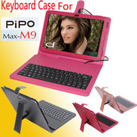 10.1'' For PIPO For PIPO M9 Protective Professional PU Leather Keyboard Stand Case Cover for PIPO M9 3 Color