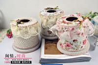 Wholesale Hot Fashion elegant home round lace tissue box qjq232 a batch