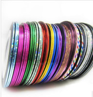 Wholesale Fashion Rolls Striping Tape Line Nail Art Decoration Sticker Multi Colors Nail Art Nail Patterns Highlight Nail Sticker m roll