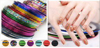 Wholesale Multicolored Rolls Striping Tape Line Nail Art Tips Decoration Sticker DIY Nails Self adhesive Clean Convenient For Use Design Nail