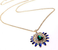 Pendant Necklaces Women's Gold Plate/Fill Free Shipping 6PCS Lot high quality costume jewelry rhinestone statement necklace crystal