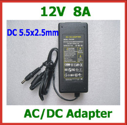AC DC Adapter 12V 8A DC 5.5x2.5mm   5.5*2.5mm Power Supply Adapter with AC Cable EU US AU UK Plug