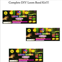 3 & 4 Years band duck - DIY Rubber Band Bracelets Loom Kit bands S clips Hook shell box packaged