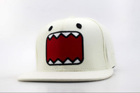 big baseball hats - white DOMO KUN Cartoon Snapback hats New Brand summer big mouth cartoon baseball caps sun shading hat QH