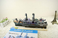Building   Free shipping Hot 3D model intelligence large stereo ships Puzzle Radiant rocket Zombies qjq234 5 sets up the batch