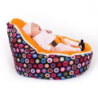 Wholesale HOT SALE New baby beanbag sofa chair with yellow tops